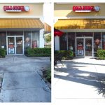 Cold Stone Before and After Pressure Cleaning