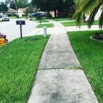 Sidewalk cleaning before