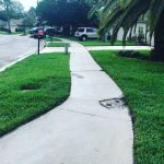 Sidewalk cleaning after