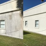 Stucco house wash before & after