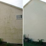 Vinyl siding house wash before & after